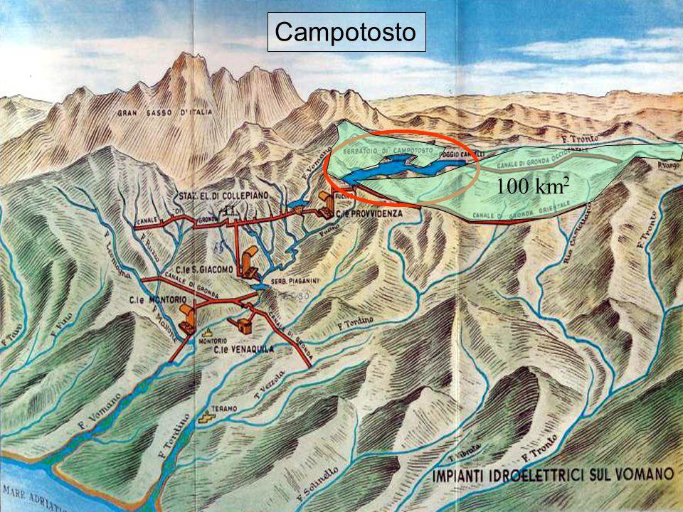 Affluenti Campotosto Campotosto 100 km2