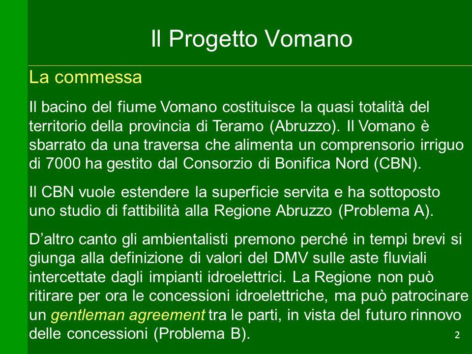 Il Progetto Vomano La commessa