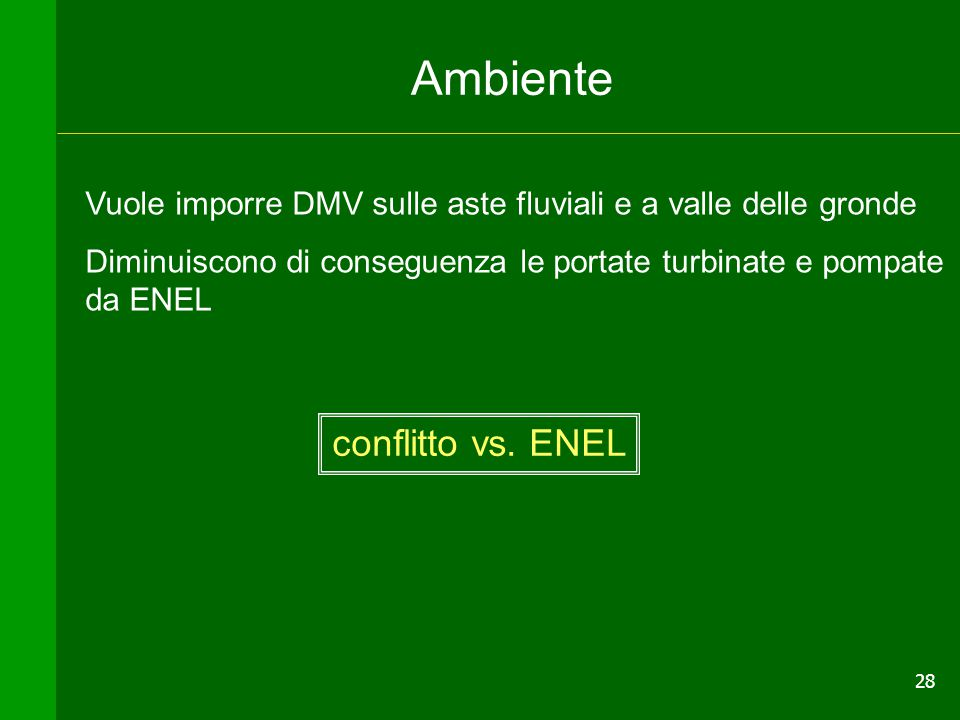 Ambiente conflitto vs. ENEL