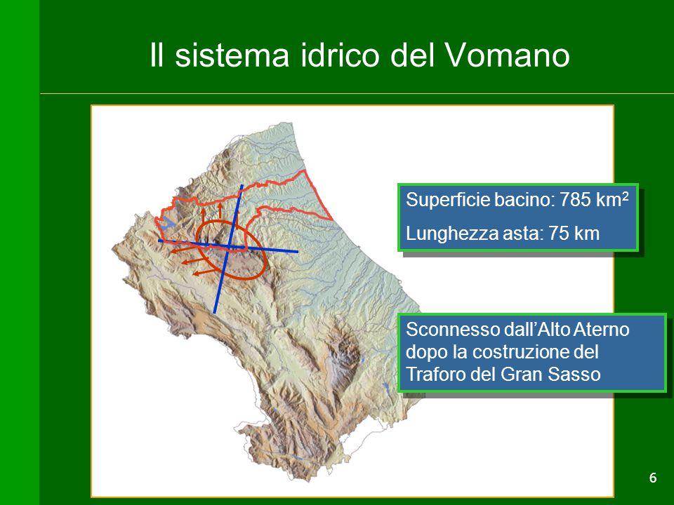 Il sistema idrico del Vomano
