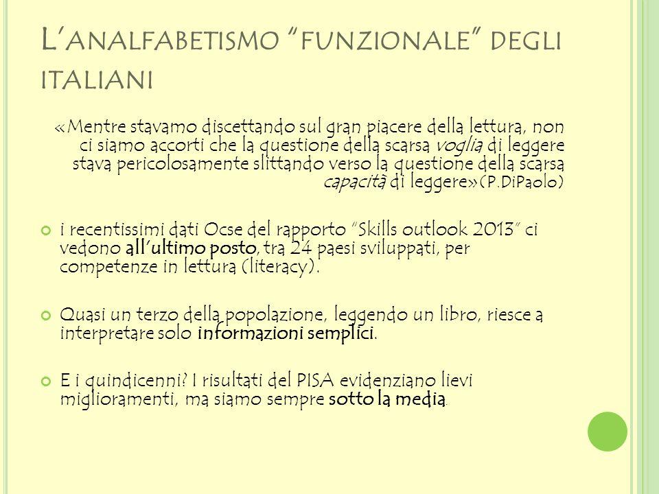 L'analfabetismo funzionale degli italiani