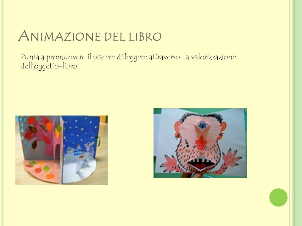 Animazione del libro Punta a promuovere il piacere di leggere attraverso la valorizzazione dell'oggetto-libro.