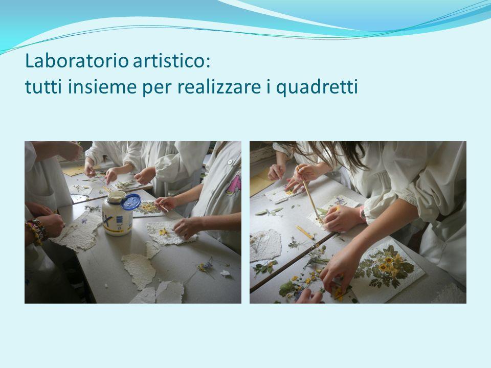 Laboratorio artistico: tutti insieme per realizzare i quadretti