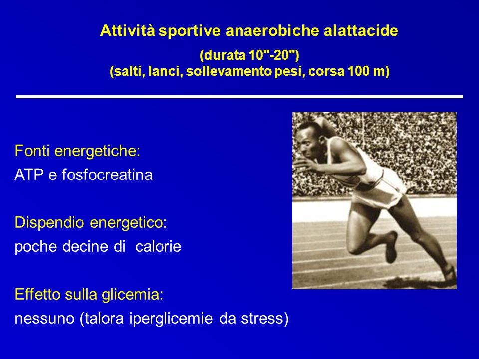 Attività sportive anaerobiche alattacide