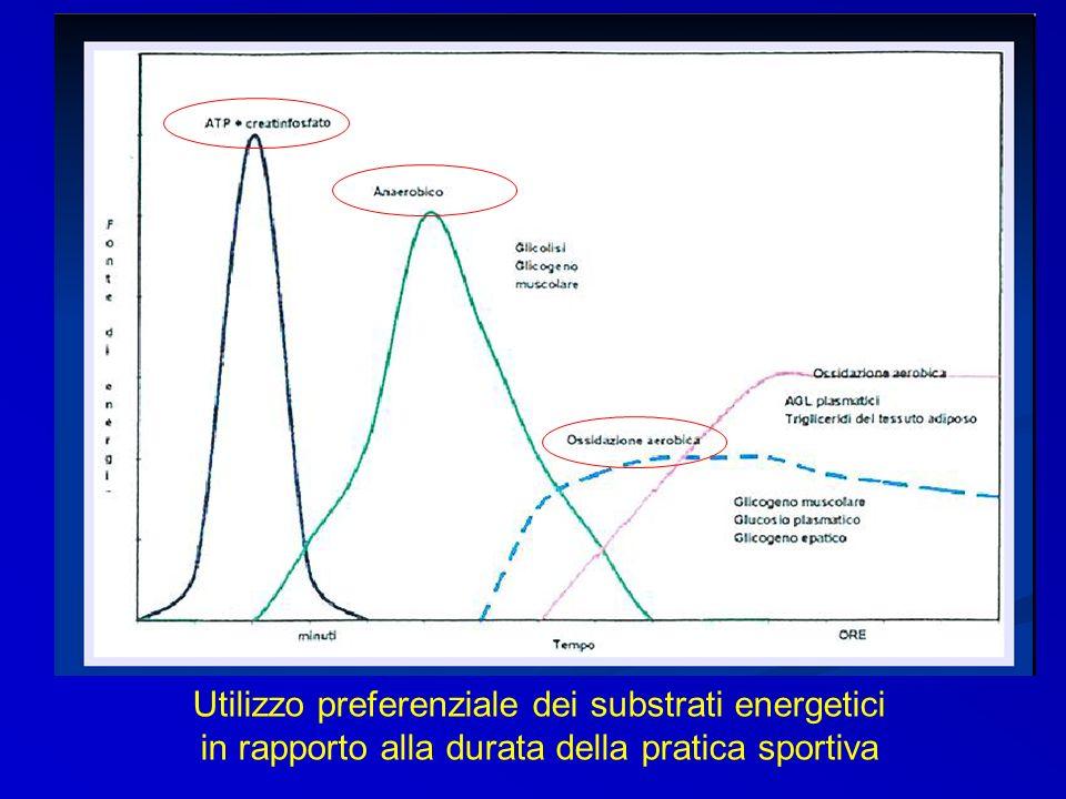 Utilizzo preferenziale dei substrati energetici