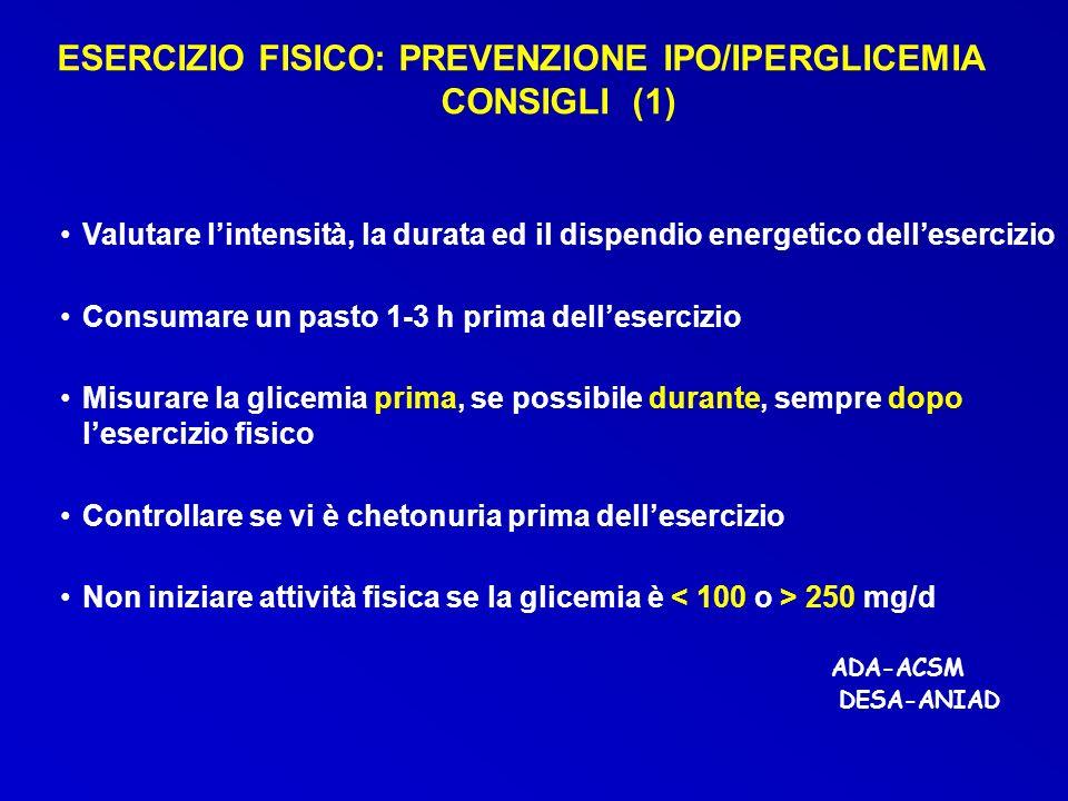 ESERCIZIO FISICO: PREVENZIONE IPO/IPERGLICEMIA CONSIGLI (1)