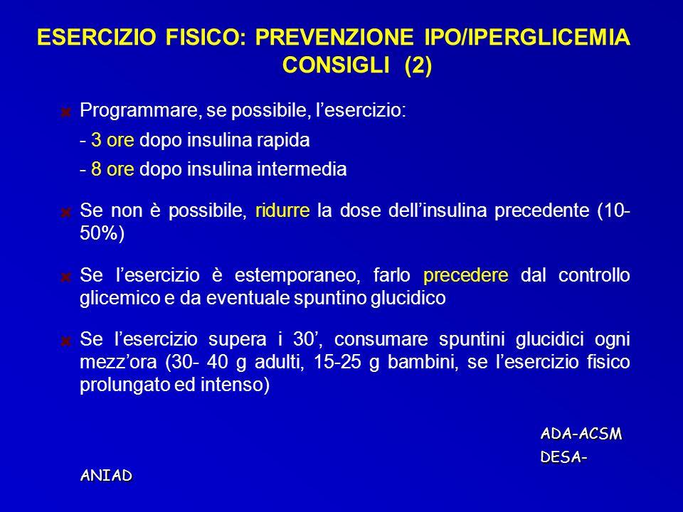 ESERCIZIO FISICO: PREVENZIONE IPO/IPERGLICEMIA CONSIGLI (2)