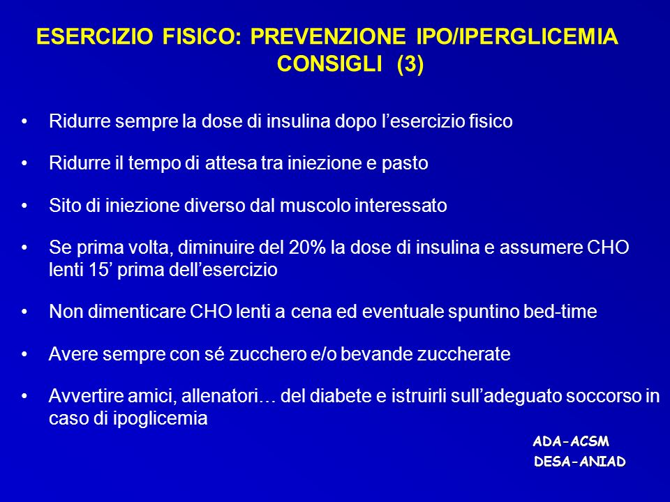 ESERCIZIO FISICO: PREVENZIONE IPO/IPERGLICEMIA CONSIGLI (3)