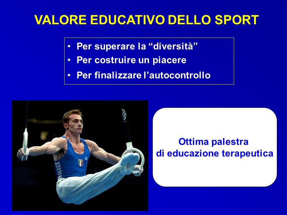VALORE EDUCATIVO DELLO SPORT di educazione terapeutica