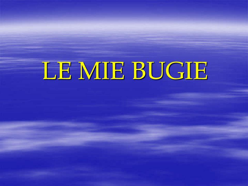 LE MIE BUGIE