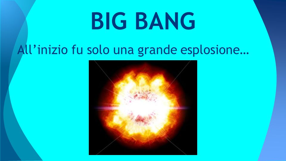 BIG BANG All'inizio fu solo una grande esplosione…
