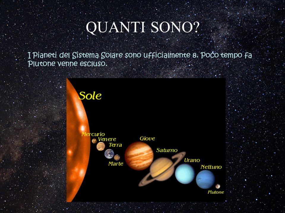 QUANTI SONO. I Pianeti del Sistema Solare sono ufficialmente 8.