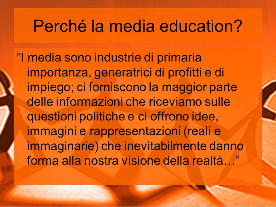 Perché la media education