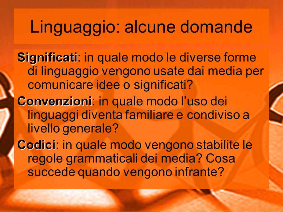 Linguaggio: alcune domande