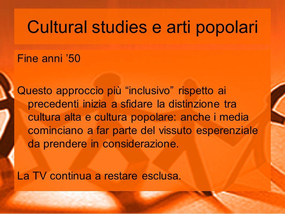 Cultural studies e arti popolari