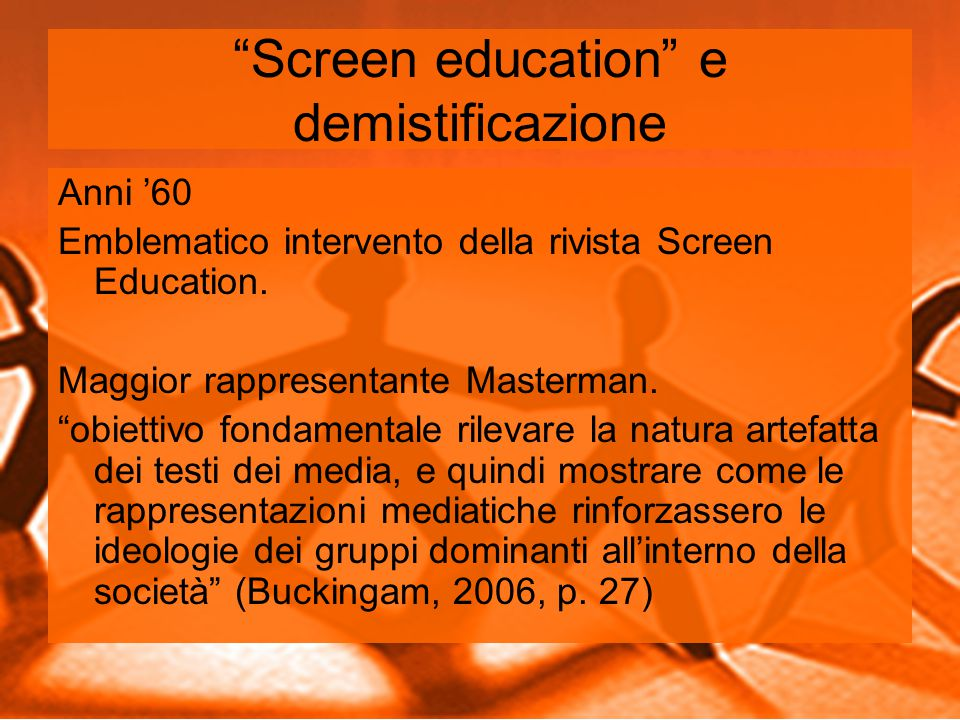 Screen education e demistificazione