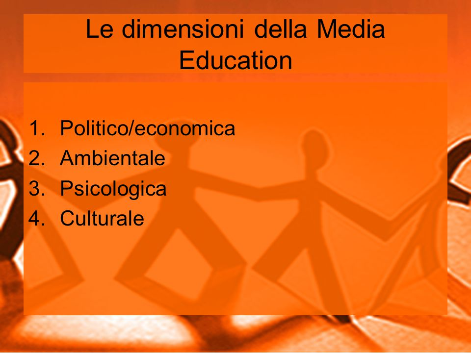 Le dimensioni della Media Education