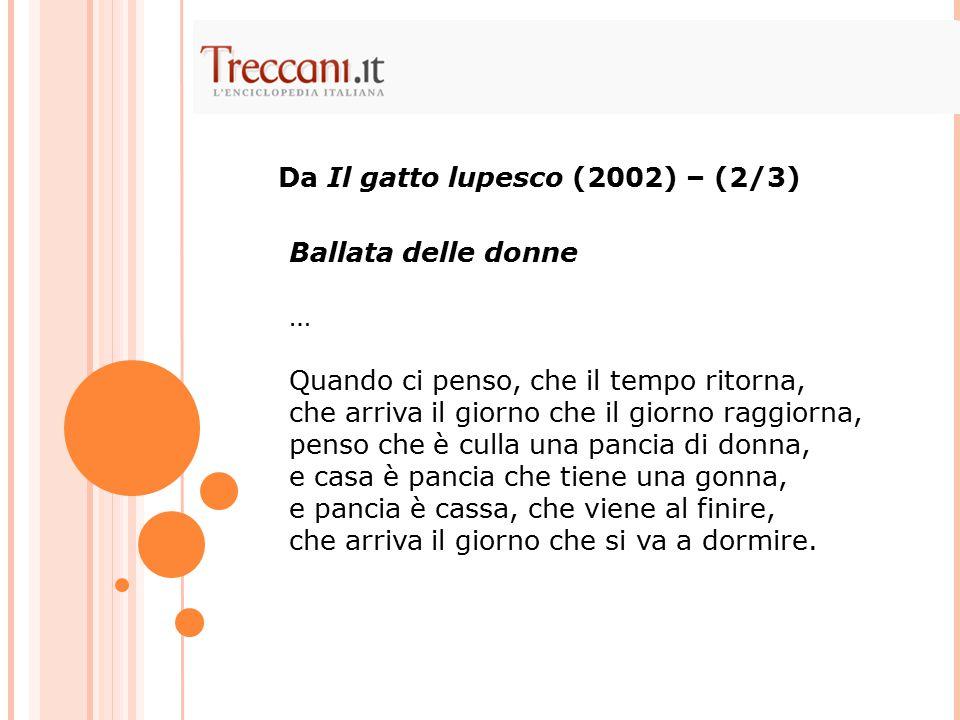 Da Il gatto lupesco (2002) – (2/3)