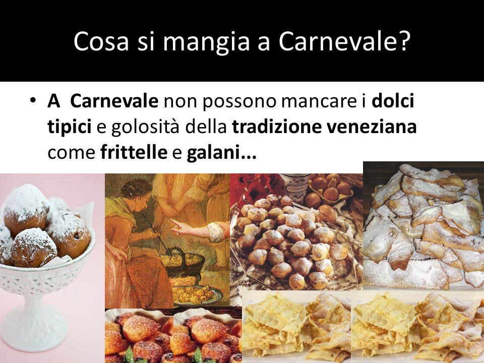 Cosa si mangia a Carnevale