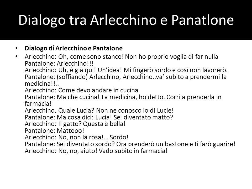 Dialogo tra Arlecchino e Panatlone