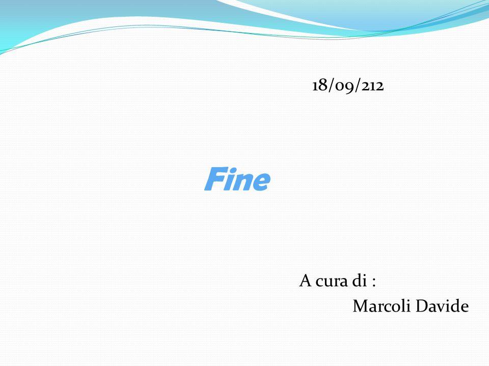 18/09/212 Fine A cura di : Marcoli Davide
