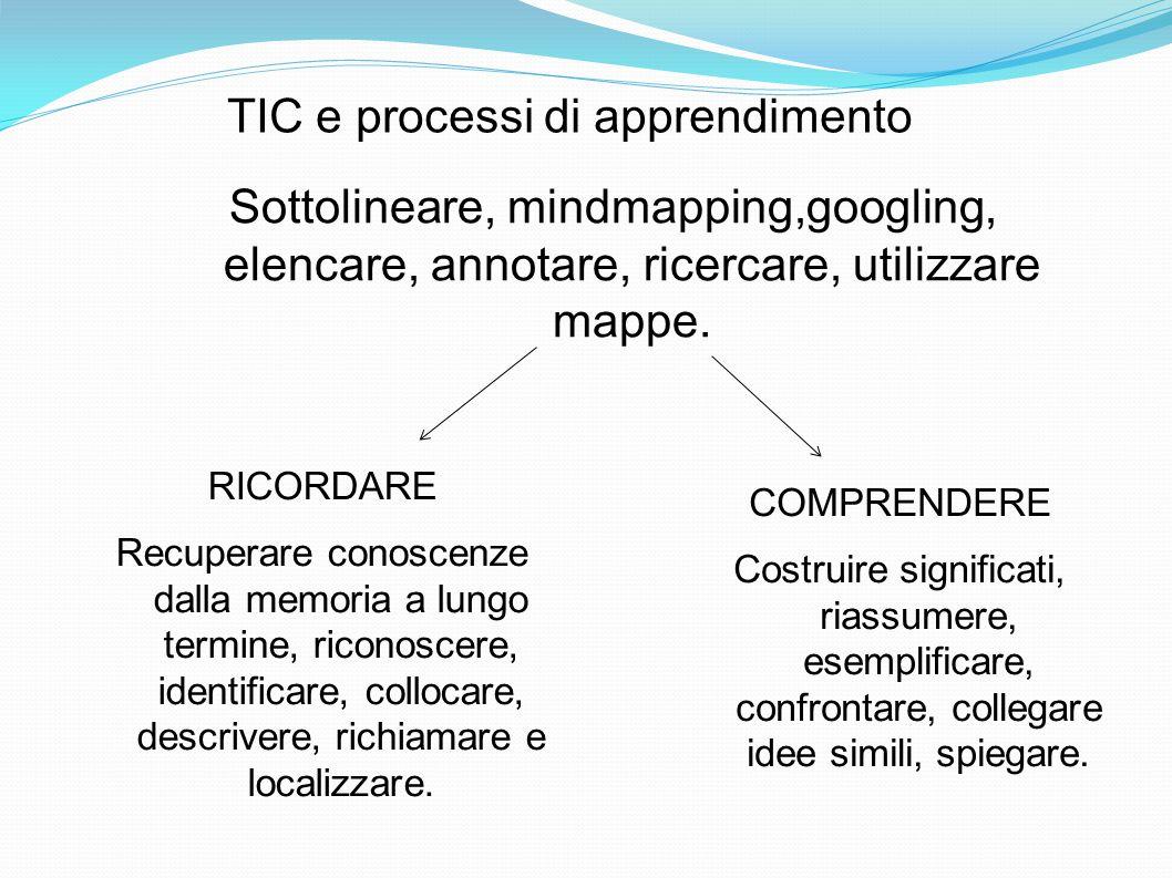 TIC e processi di apprendimento