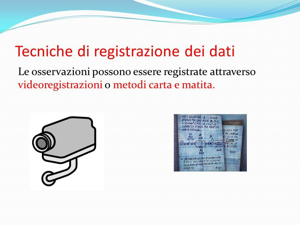 Tecniche di registrazione dei dati
