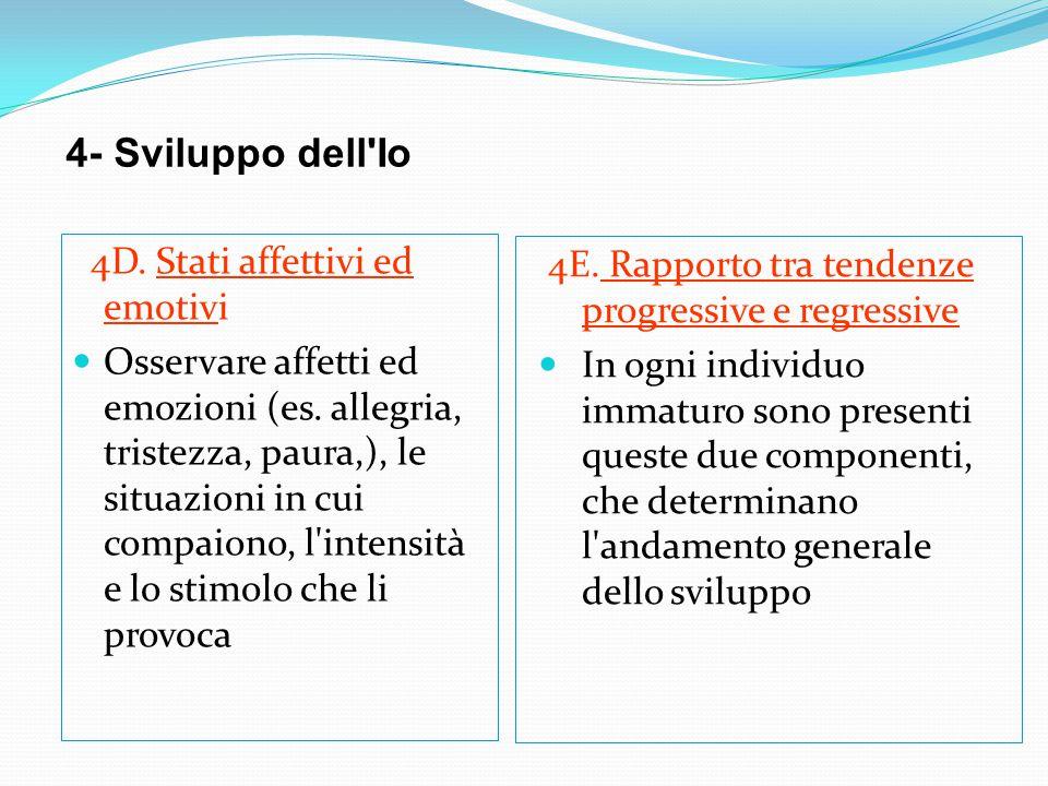 4- Sviluppo dell Io 4D. Stati affettivi ed emotivi
