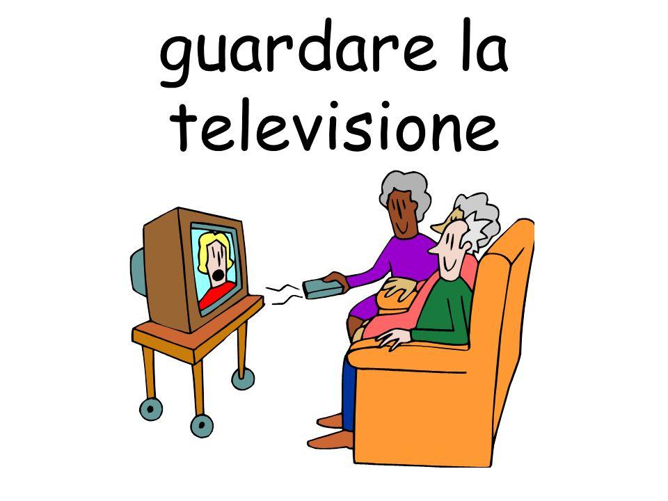 guardare la televisione