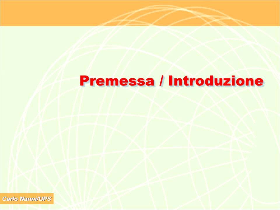 Premessa / Introduzione