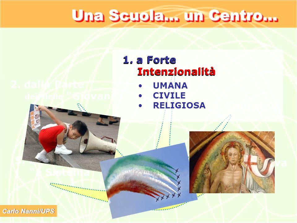 Una Scuola… un Centro… 1. a Forte Intenzionalità