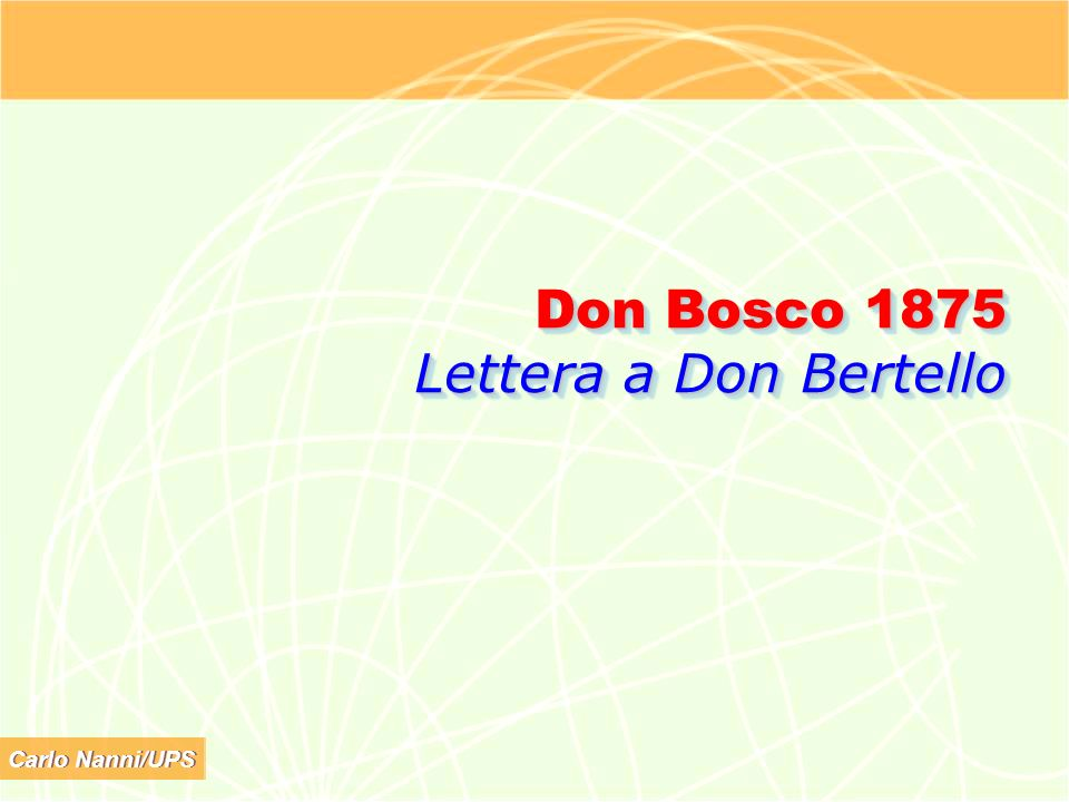 Don Bosco 1875 Lettera a Don Bertello