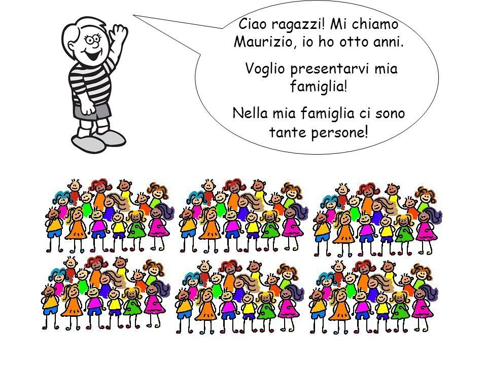 Ciao ragazzi! Mi chiamo Maurizio, io ho otto anni.
