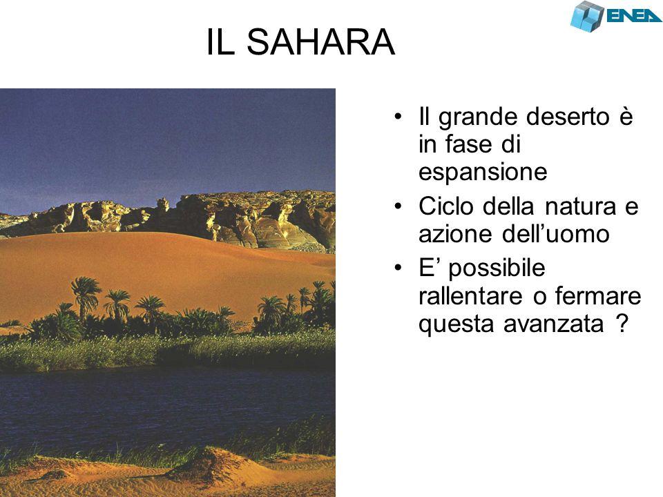 IL SAHARA Il grande deserto è in fase di espansione