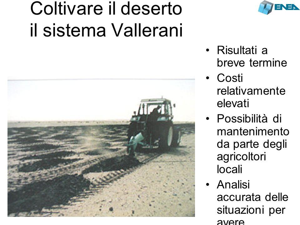 Coltivare il deserto il sistema Vallerani