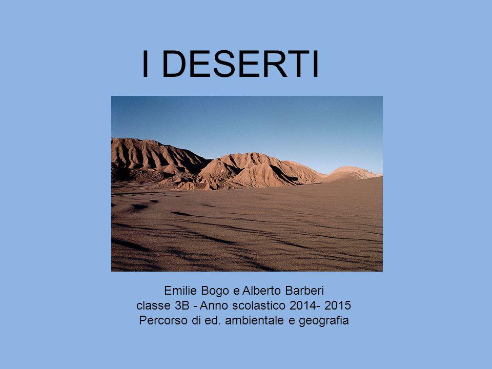 I DESERTI Emilie Bogo e Alberto Barberi