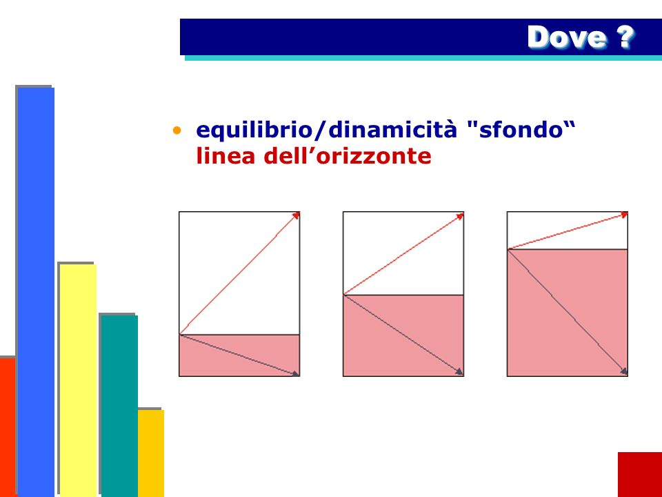 Dove equilibrio/dinamicità sfondo linea dell'orizzonte