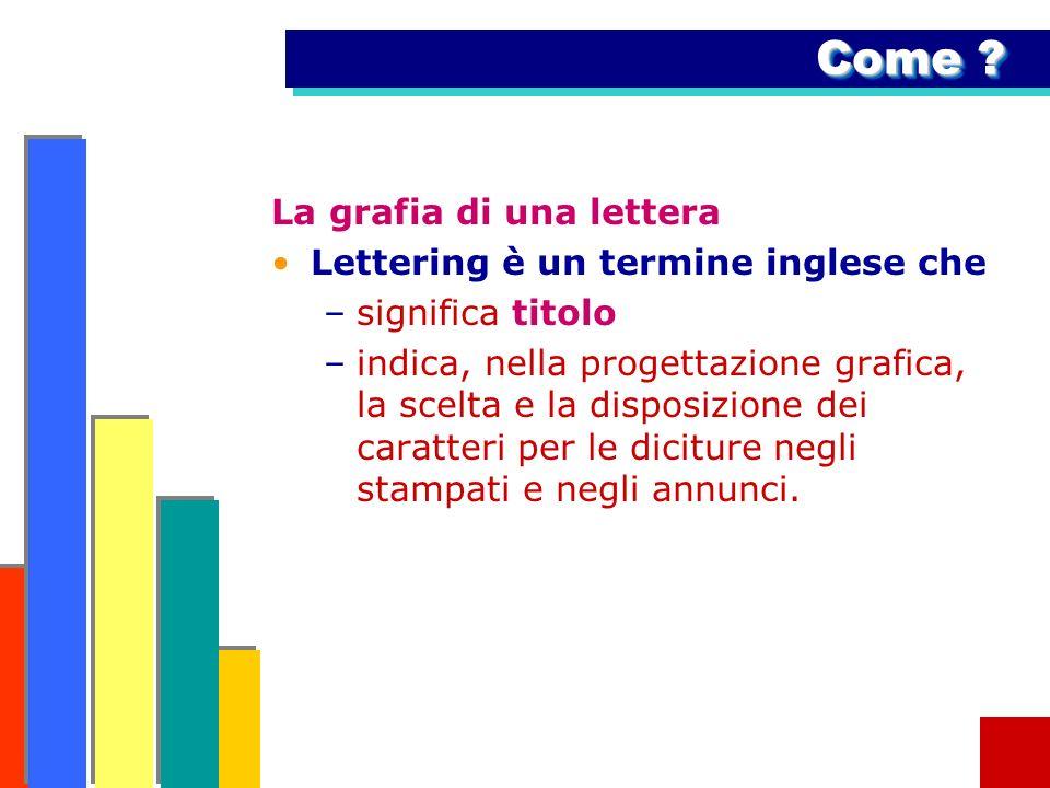 Come La grafia di una lettera Lettering è un termine inglese che