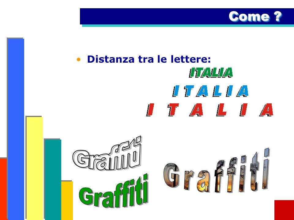 Come Distanza tra le lettere: Graffiti Graffiti Graffiti