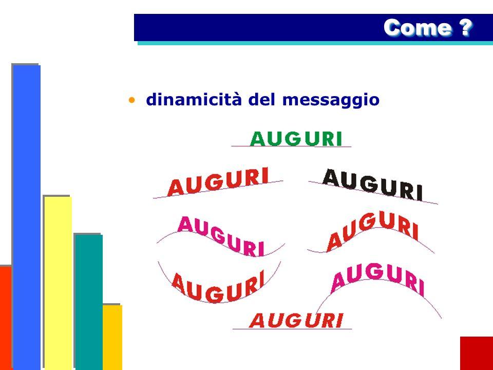 Come dinamicità del messaggio