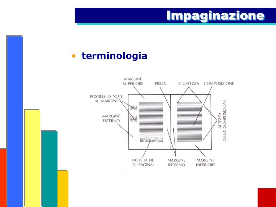 Impaginazione terminologia