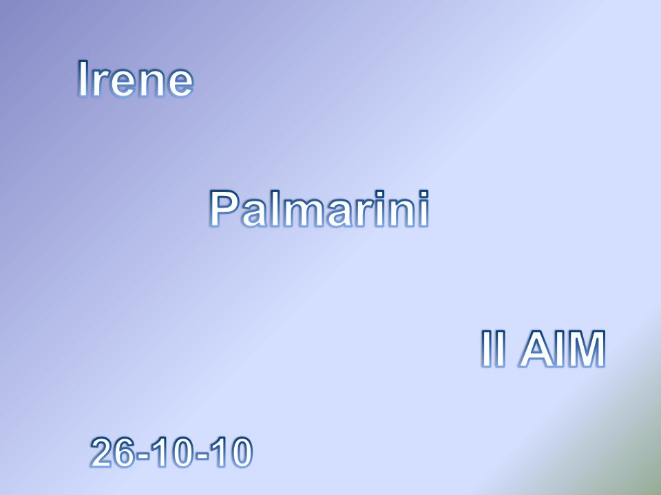 Irene Palmarini II AIM 26-10-10