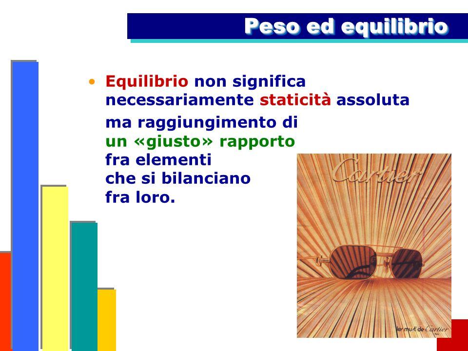 Peso ed equilibrioEquilibrio non significa necessariamente staticità assoluta.