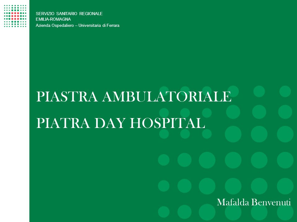 PIASTRA AMBULATORIALE PIATRA DAY HOSPITAL