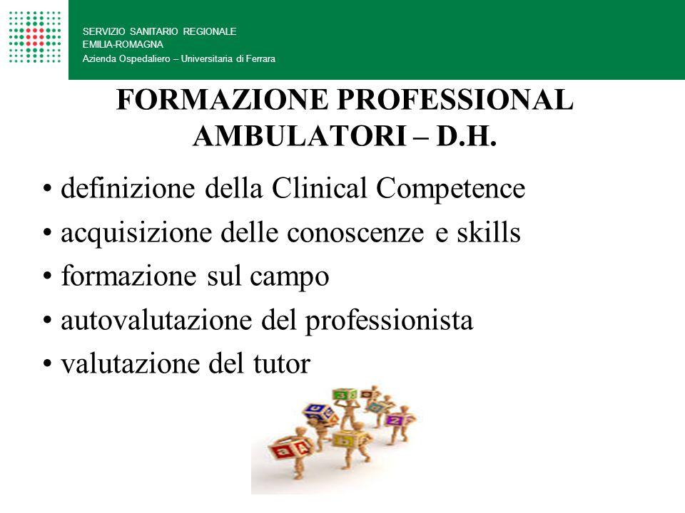 FORMAZIONE PROFESSIONAL AMBULATORI – D.H.