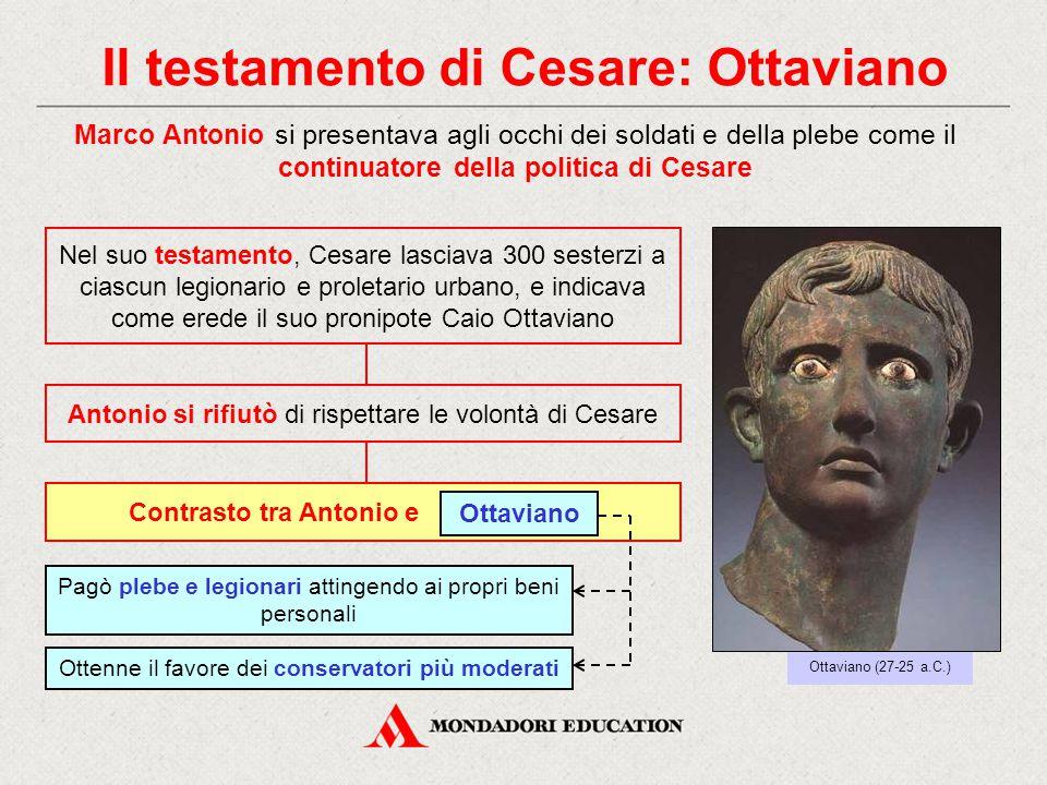 Il testamento di Cesare: Ottaviano