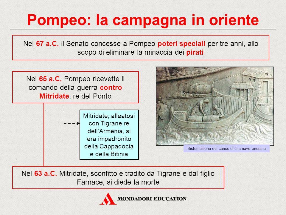 Pompeo: la campagna in oriente
