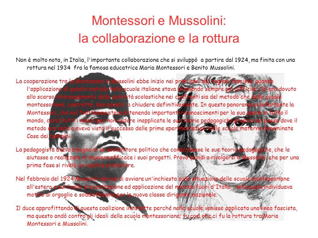 Montessori e Mussolini: la collaborazione e la rottura