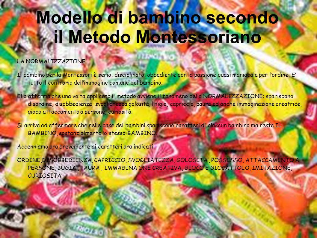 Modello di bambino secondo il Metodo Montessoriano
