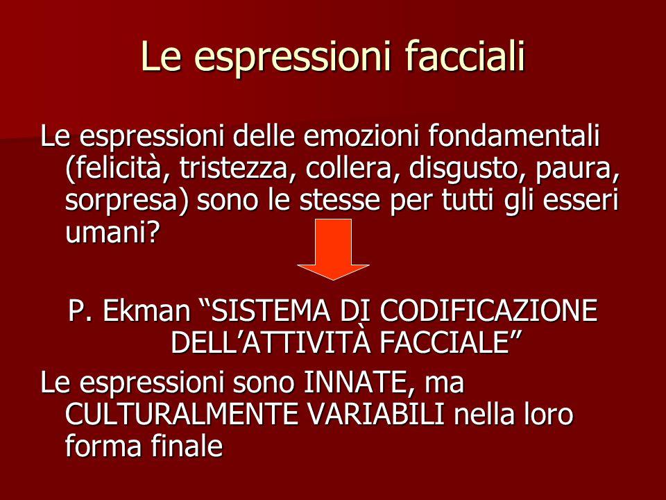 Le espressioni facciali